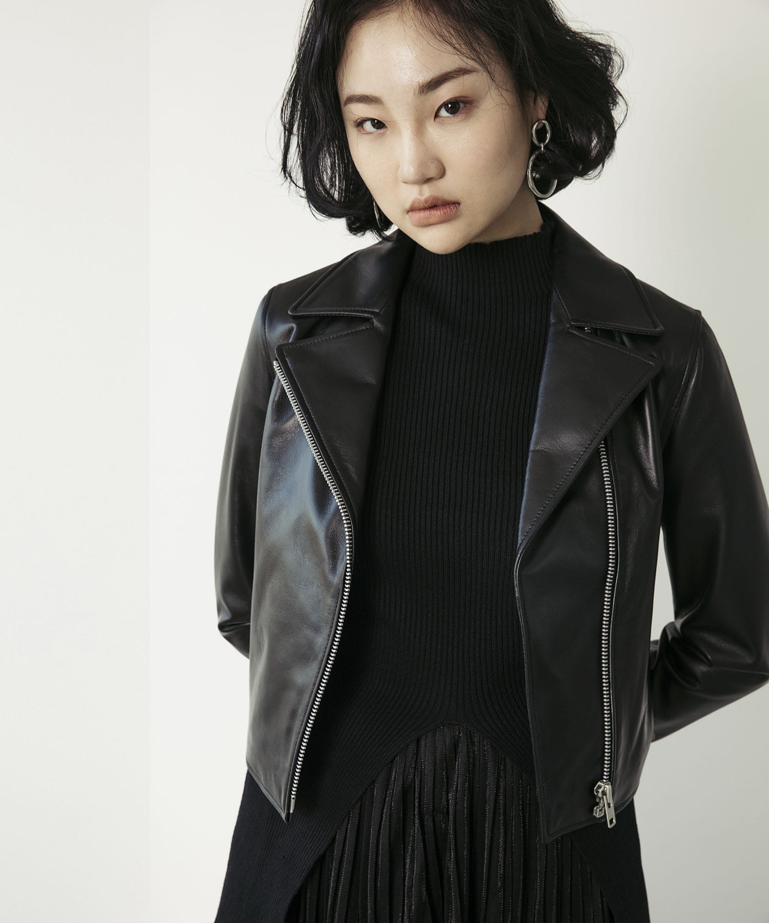 SPERONE LAMB SKIN RIDER JACKET [BLACK]