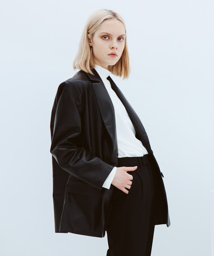 SPERONE LAMB SKIN BLAZER JACKET [BLACK]