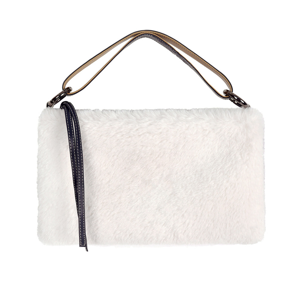SPERONE STRAIN COLOR BLOCK BAG [GRAY & WHITE]