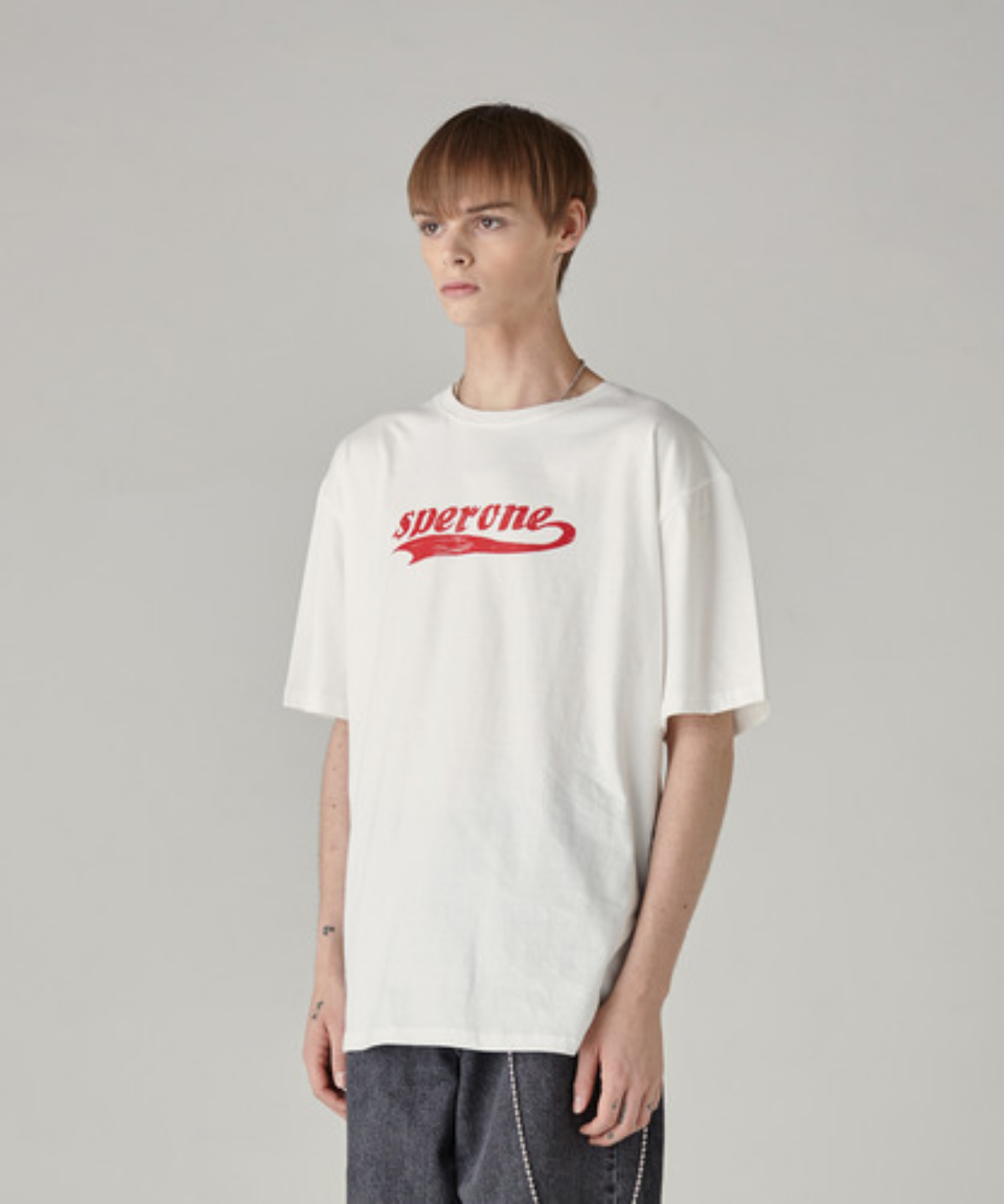 SPERONE LOGO T-SHIRT [WHITE/L]