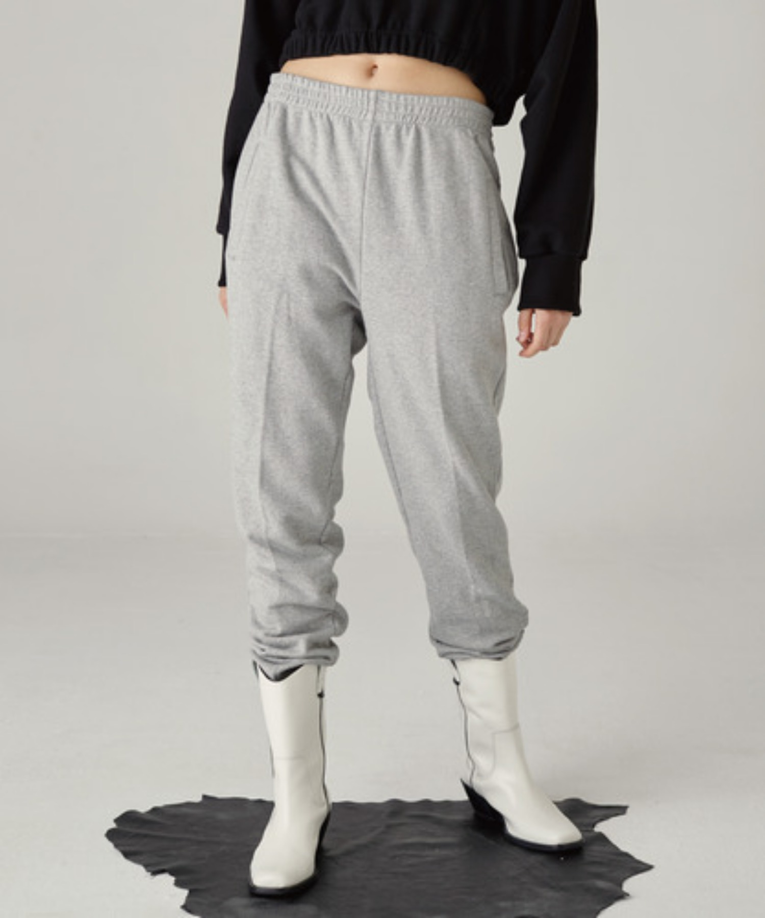 SPERONE WIDE SWEAT PANTS [GRAY]