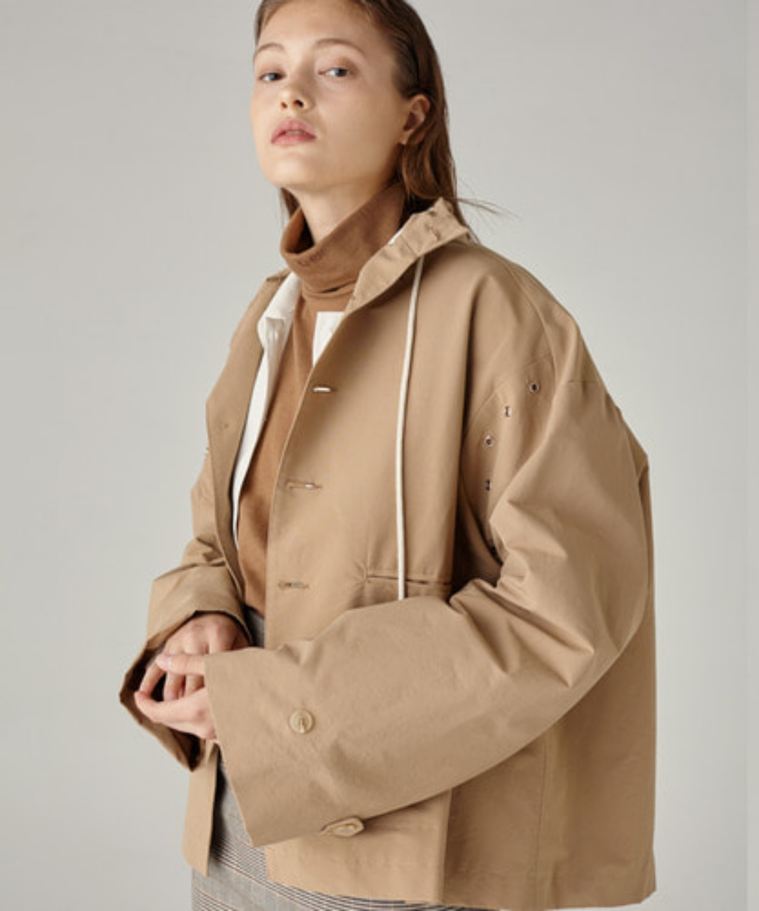 SPERONE EYELET OVER JACKET [BEIGE]