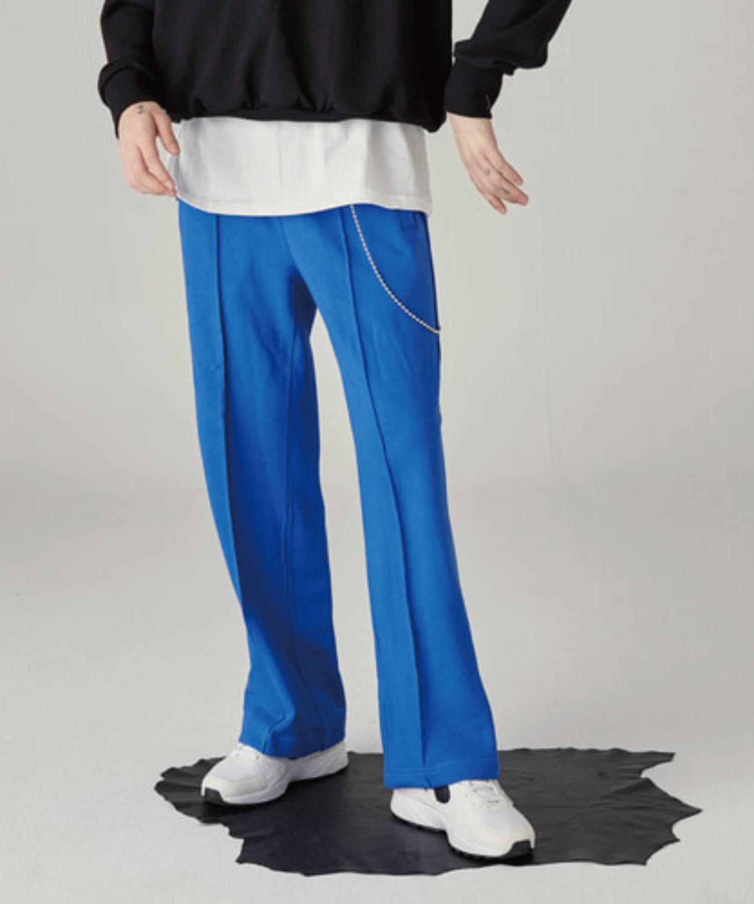 SPERONE WIDE SWEAT PANTS [BLUE]