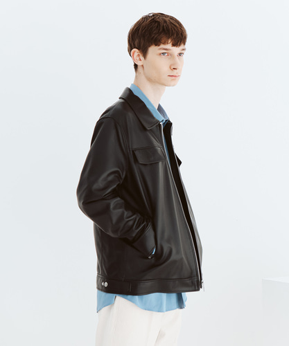 SPERONE LAMB SKIN POCKET TRUCKER JACKET