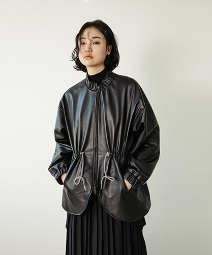 SPERONE LAMB SKIN MA-1 JACKET [BLACK]