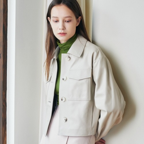 SPERONE Lambskin Crop Pocket Jacket [Ivory]