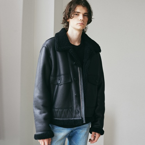 SPERONE Shearling Button Mustang [Black/Black]